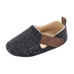 tênis para meninas Desconto Baby Girl Boy Shoes Shoes crianças Baby Boy Denim Canvas Sneaker antiderrapante macio Sole Criança