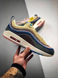 Sapatas verdes do diamante on-line-Hybrid 97 Vf Sean Wotherspoon X Sundefeated X Olive Green Crystal Diamond Homens Tênis de corrida 2020 Março Tênis Sneakers Sport Shoes