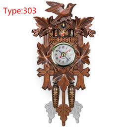 specchi resistenti all'acqua Sconti Cucù decorativo d'attaccatura del pendolo dell'orologio del pendolo della casa di legno d'annata dell'uccello