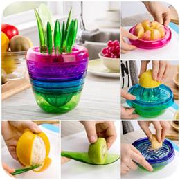 2019 pflanze apfel Kreative Früchte Pflanzen Multi Kitchen Tool Set von 10 Apfelschneider Avocado Scoop Obst Slicer Cutter Mesh Zitronenpresse rabatt pflanze apfel