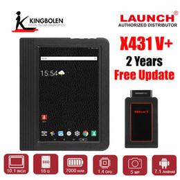 Comprimido opel on-line-LANÇAMENTO X431 V Plus Profissional OBDII OBD2 Wifi e Bluetooth Automotive Sistema Completo Ferramenta de Diagnóstico Multi-Language Scan Tablet