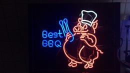 2019 beste neon bar leuchten Beste BBQ PIG Shef HANDGEFERTIGTE REAL GLASS TUBE BIER BAR PUB TAVERNE Neonlicht Box Zeichen WANDDEKOR LAMPE günstig beste neon bar leuchten