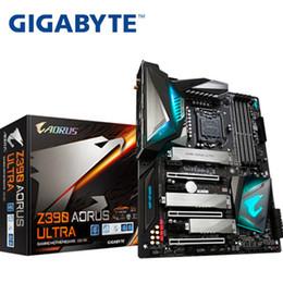 quad core cpu 775 Rabatt Für Gigabyte Z390 AORUS ULTRA Ursprüngliche NEUE Motherboard DDR4 E-Sport-Spielcomputer Motherboard Overclocking RGB Board