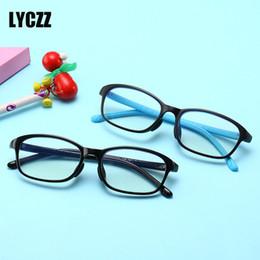 d73a4a9e33 LYCZZ Silicona Anti-azul claro Niños Gafas transparentes marcos Niñas niños  Prescripción flexible Gafas Niños Ojo Marcos de gafas