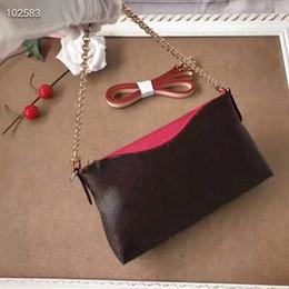 Cuoio di stampa in vacca online-Borsa a tracolla sugao rosa borse a tracolla mucca pochette catena vera pelle borsa donna 41638 # stampa lettera borsa shoudler fiore 6 colori