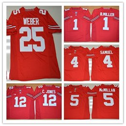 f3566d4b0 High Quality Mens NCAA Ohio State Buckeyes Curtis Samuel 4 Raekwon McMillan  5 Mike Weber 25 College Red Football Jerseys