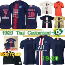 Thai Maillots de foot 19 20 PSG Fußball Trikots 2020 Paris MBAPPE Saint Germain Trikot T-Shirt Fußball Kit Champions Shirt Männer Kinder Sets von Fabrikanten