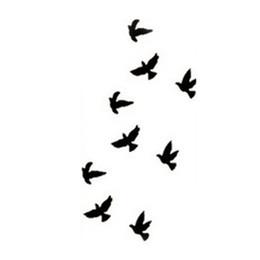 2019 bottiglie di crema di corpo all'ingrosso Hot Tattoo da polso Tatoo falso Tatoo Birds Design impermeabile autoadesivo del tatuaggio temporaneo per Body Art Tatuaggi carne di carnevale