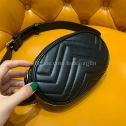 moda cintura saco mulheres couro Desconto bag women Genuine Leather Waist Marmont handbag high quality original box brand designer famous new fashion