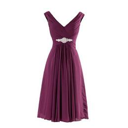 Şifon Kısa Üzüm Mor Nane Yeşil Kırmızı Gelinlik Modelleri Balo Sevgiliye Pileli Parti Elbise Boncuklu Düğün Için cheap mint beaded ball dress nereden nane boncuklu topu elbise tedarikçiler