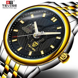 tevise brand watches Promo Codes - Tevise Top Luxury Brand Mens Watch Mechanical Watches Automatic Business Watch Creative Dial Stainless Steel Wristwatch Relogios