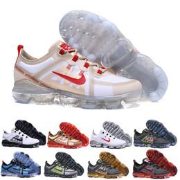 Scarpe da ginnastica nere scontate online-nike Vapormax air max airmax 2019 Run Utility Uomo Scarpe da corsa Best Quality Nero Antracite Bianco Rifletti Argento Sconto Scarpe Sport Sneakers Taglia 40-45
