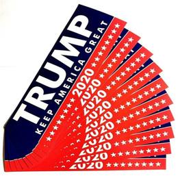 Etiquetas da cor do carro on-line-Donald Trump Quadro EUA Presidente Paster Car Adesivos Papel 2020 Geral Eleição Duas Cores O Novo 2 5ls C1