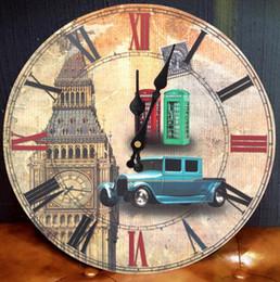 2019 timer remoto digitale Orologio da parete in legno di quarzo fatto a mano Statua della Libertà Modello di fiore rosa orologio per orologi decorativi da parete tondo casa CCA10946 12 pz