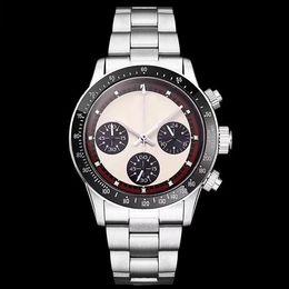 Relógio cronógrafo vintage vintage on-line-2019 relógio cronógrafo do vintage perpétuo paul newman quartzo japonês de aço inoxidável homens mens relógios relógios de pulso