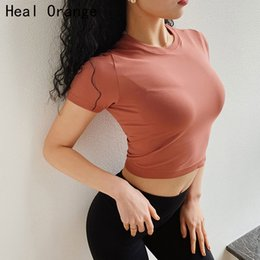 a2f819a0f2cf7d Quick Dry Women Cropped Seamless Short Sleeve Top Womens Workout Tops  Sports Wear for Women Gym Sexy Shirt Gym Crop Top