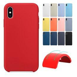 2019 telefones originais Tem logotipo original silicone phone case para iphone 6 6 s 7 8 plus x xr xs max embalagem de varejo caixa de silicone líquido desconto telefones originais