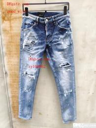 2019 point de mode hommes jeans 2019 Mode Casual Hommes s Denim Coolguy Jean Broderie Pantalon Trous Jeans Bouton Pantalon D2 Pantalons Longs 893 point de mode hommes jeans pas cher