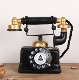 Téléphone européen antique en Ligne-Résine rétro européen téléphone ornements Antique vieux téléphone maison salon décoration de bureau artisanat mode créatif maison sauvage pop