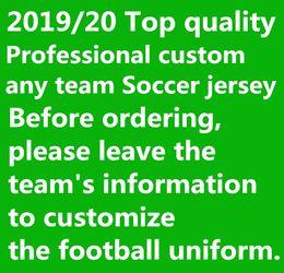 2019 2020 Высокое качество настроить любую команду футбол Джерси 19 20 Месси М.SALAH Кейн футбол комплект форменной рубашки 10 шт. Бесплатный DHL! от