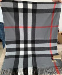 2020 bufandas de gama alta Bolsa con la caja 200 * 70cm para mujer para hombre de lujo de diseño Bufandas Chales 2019 Invierno de gama alta del Clásico Comprobar bufandas bufanda de la cachemira de la manta rebajas bufandas de gama alta