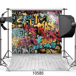 hintergrund fotowand fotografie Rabatt Graffiti-Wand-Porträt-Fotografie-Hintergrund für Photo Booth Vinyl Hintergrund-Foto Studio Photo für Kinder Baby Kinder