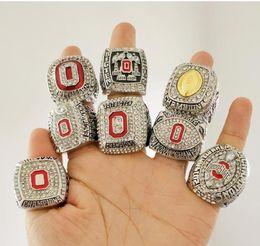 8 PCS Ohio State Buckeyes Champion National Championnat Anneau Ensemble solide hommes Fan Brithday Cadeau En Gros Drop Shipping ? partir de fabricateur