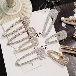 Xugar Haarschmuck Kristall Strass Haarnadeln für Mädchen Shiny Geometric Rectangle Waterdrop Haarspangen für Frauen von Fabrikanten