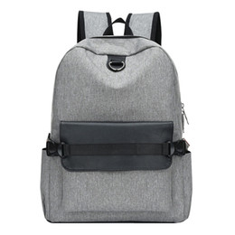 2019 mochila recargable Unisex Bolso Recargable Mochila de viaje escolar Bolso de Lona Totalizador Moda Hombres de Negocios Portátil Mochila # G4 mochila recargable baratos