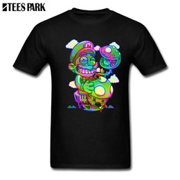 febbe627d 2019 mario novo camisetas Trippy Mario Super Mario Cogumelos Psicodélicos  Shrooms Engraçados Camisetas Masculinas O Pescoço