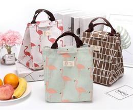 Caixas de armazenamento impressas on-line-Alunos portáteis caixa de almoço saco de Isolamento Térmico Saco de Impressão Animal Sacos de Refrigerador Bolsas Ao Ar Livre Piquenique Saco de Armazenamento de Alimentos À Prova D 'Água B71801