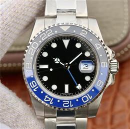 reloj de buceo gmt Rebajas 2019 Top Nueva versión V9 Hombres Cal.3186 automático Reloj N Azul Negro Cerámica Hombres Gmt Batman Relojes Dive Sport 116710 126710 116719 904L acero