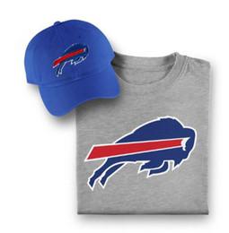 7b78e20bd41 Hot Sale Buffalo Adjustable Hats Bills Pro Line Embroidery Team Logo Caps  With Printed Fanatics Branded Tshirt Bundle Free Shipping