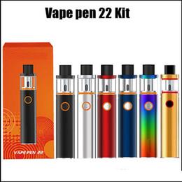 Recharges stylo vape en Ligne-Vape Pen 22 Kit de démarrage Tout en Un Style Construit dans la batterie 1650mAh Kit de remplissage pour débutant avec indicateur LED 6 couleurs