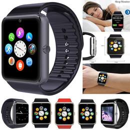 i bambini guardano il telefono Sconti Smart Watch GT08 Bambini Uomo Donna Bambini Orologio Telefono SIM Card Orologio fotocamera Bluetooth Smartwatch gt 08 Connetti Android IOS PK Q18