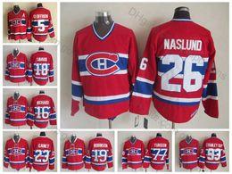 Недорогие канадские трикотажные изделия онлайн-Высочайшее качество Винтаж # 26 Коврики Naslund Jerseys Mens Home Red Montreal Canadiens Коврики Хоккейные майки Naslund Дешевые сшитые рубашки M-XXXL