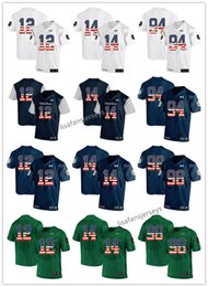 Mens Notre Dame Fighting Irish Jerseys 12 Ian Book 14 DeShone Kizer 94  Jarron Jones 98 Andrew Trumbetti 2019 USA Flag College Football NCAA 630e1dc57