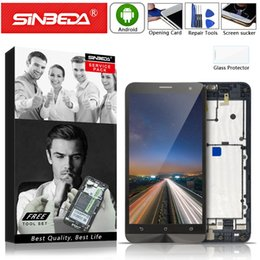 lcd zenfone Скидка Sinbeda For ASUS Zenfone 5 T00J A500KL A500CG A501CG LCD Display Touch Screen Digitizer with frame Assembly Replacement parts