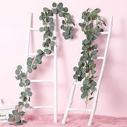 Planta artificial ornamento hecho a mano simulada eucalipto creativo Verde 1M / Partido decoración de la boda 1,5M InsRattan artificial desde fabricantes