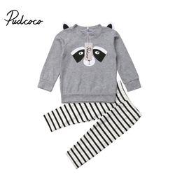 Panda outfits gesetzt online-2 STÜCKE Infant Kleinkind Kinder Baby Mädchen Panda Print Outfits Set Kleidung Mädchen Baumwolle Hoodies T-shirt Tops + Lange Hosen Kleidung Sunsuit