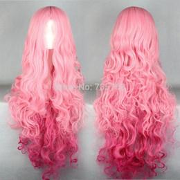 Parrucche di luka online-Xiuli 000874 Long Vocaloid- Luka parrucca riccia rosa cosplay
