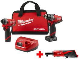 Milwaukee M12 Combustibile a percussione a batteria con martello perforatore a percussione Kit combinato di utensili elettrici da