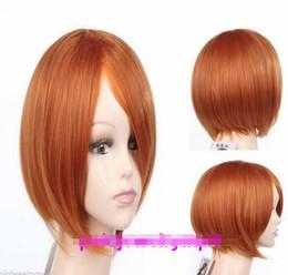 Parrucche arancioni scure online-FREE SHIPPIN +++ Nuova parrucca Full Straight Straight Dark Orange Mixed Women