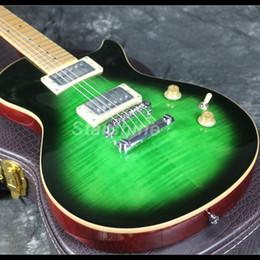 chitarre doganali Sconti 2019 Nuova chitarra elettrica standard 22 tasti Nuova tastiera in acero di design può passare al colore verde della dogana