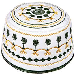 2019 größe schädelmütze Newst Muslim Gebetsmütze Islamic Men Hut Türkisch Arabisch Taqiyah Tagiya Topi Kufi Skull Caps, 20 Farben, Größe 56, 57, 58, 59 H-56 rabatt größe schädelmütze