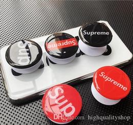 suporte de anel chinês Desconto Novo vidro de cristal 3D Epóxi Studi POP telefone airbag suporte telescópico com removível de plástico preto e branco opcional