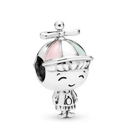 tropischer schmuck großhandel Rabatt 2019 heißer Verkauf Frauen Pandora 925 Sterling Silber Charms Fashion Lady Perlen für diy Armband Mädchen mit Zöpfen CZ Propeller Hut Junge Schönheit