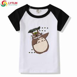 2019 tshirts garçons en bas âge LYTLM été 2019 garçons T-shirts mon voisin Totoro garçon manches courtes chemises pour enfants Modis bande dessinée Tops Toddler T-shirts filles promotion tshirts garçons en bas âge