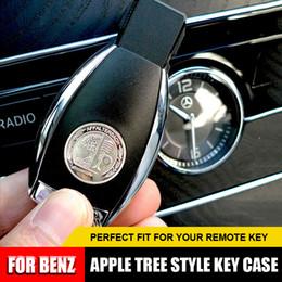 caja de teclas fiat Rebajas 1 Unids Plata Brillante Llave Contraportada Insignia Llave Funda Para Mercedes Benz AMG Logo
