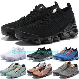 flash real Rebajas FLY 3.0 Moon Landing Oreo Triple Black Blue Fury hombres zapatos para correr para mujer Negro láser fucsia Barely Volt flash crimson Knit Sneakers